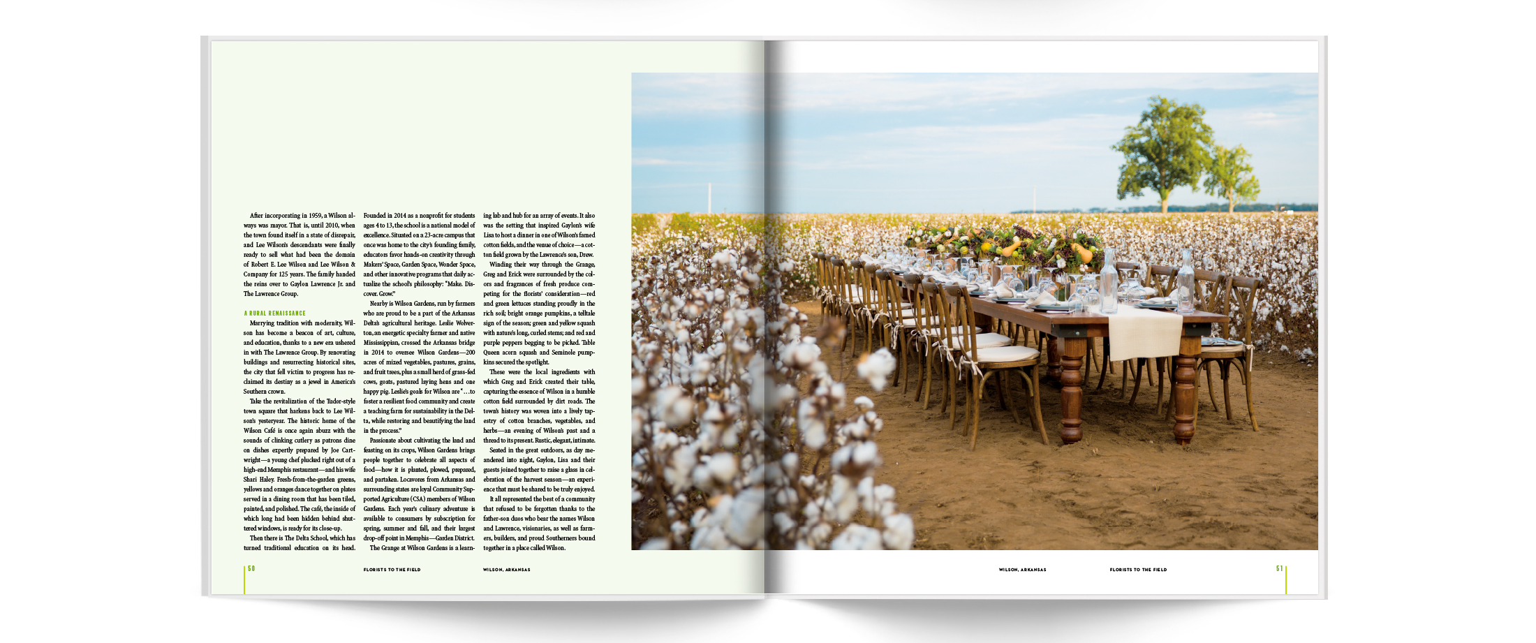 Southerly Media Publication Design Florists To The Field | © Robertson Design