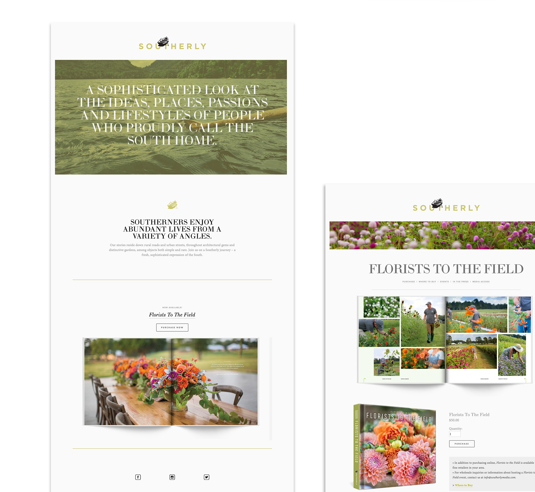 Southerly Media Website Design | © Robertson Design