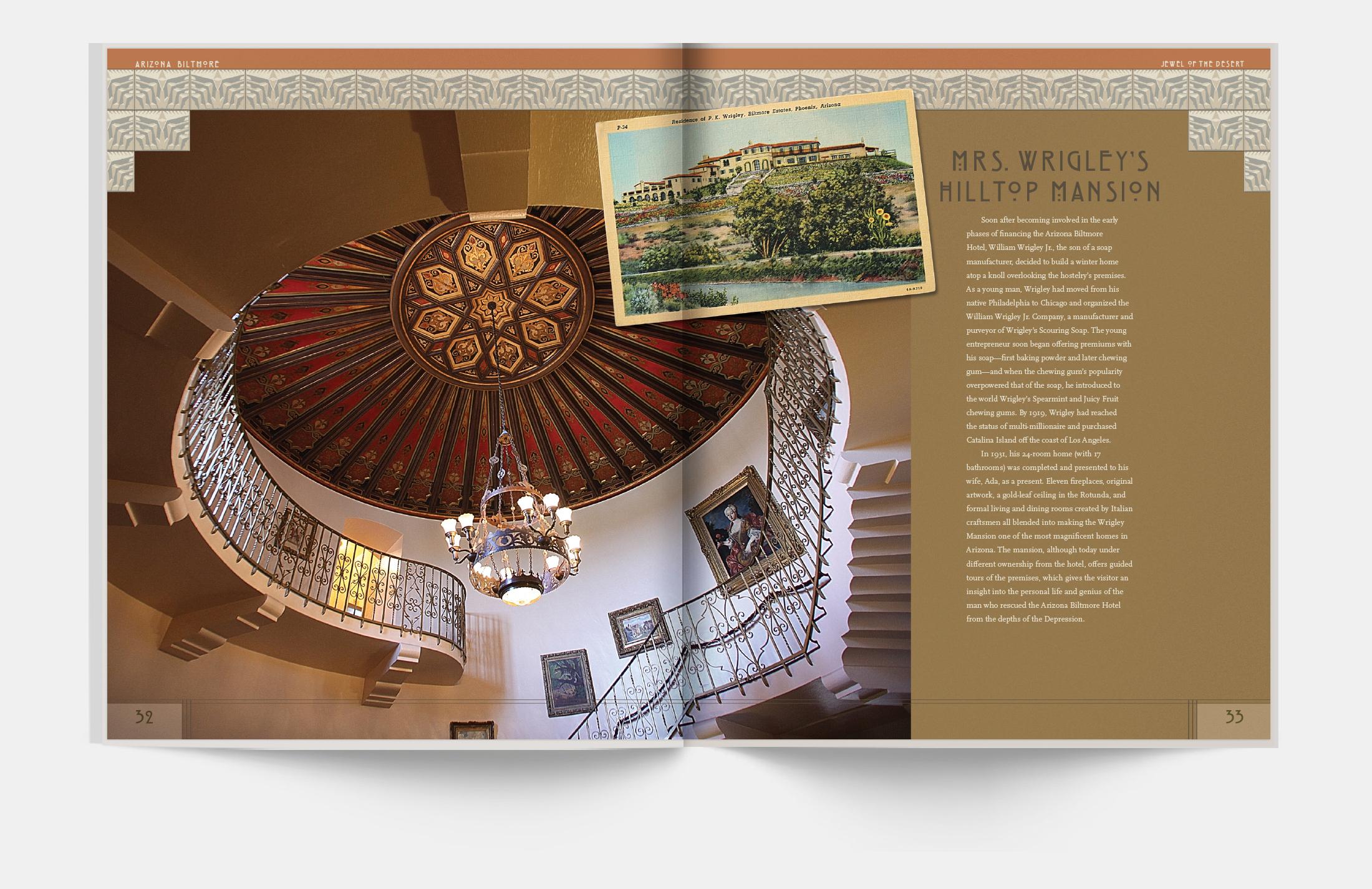 Interior spread: William Wrigley Hilltop Mansion | Robertson Design