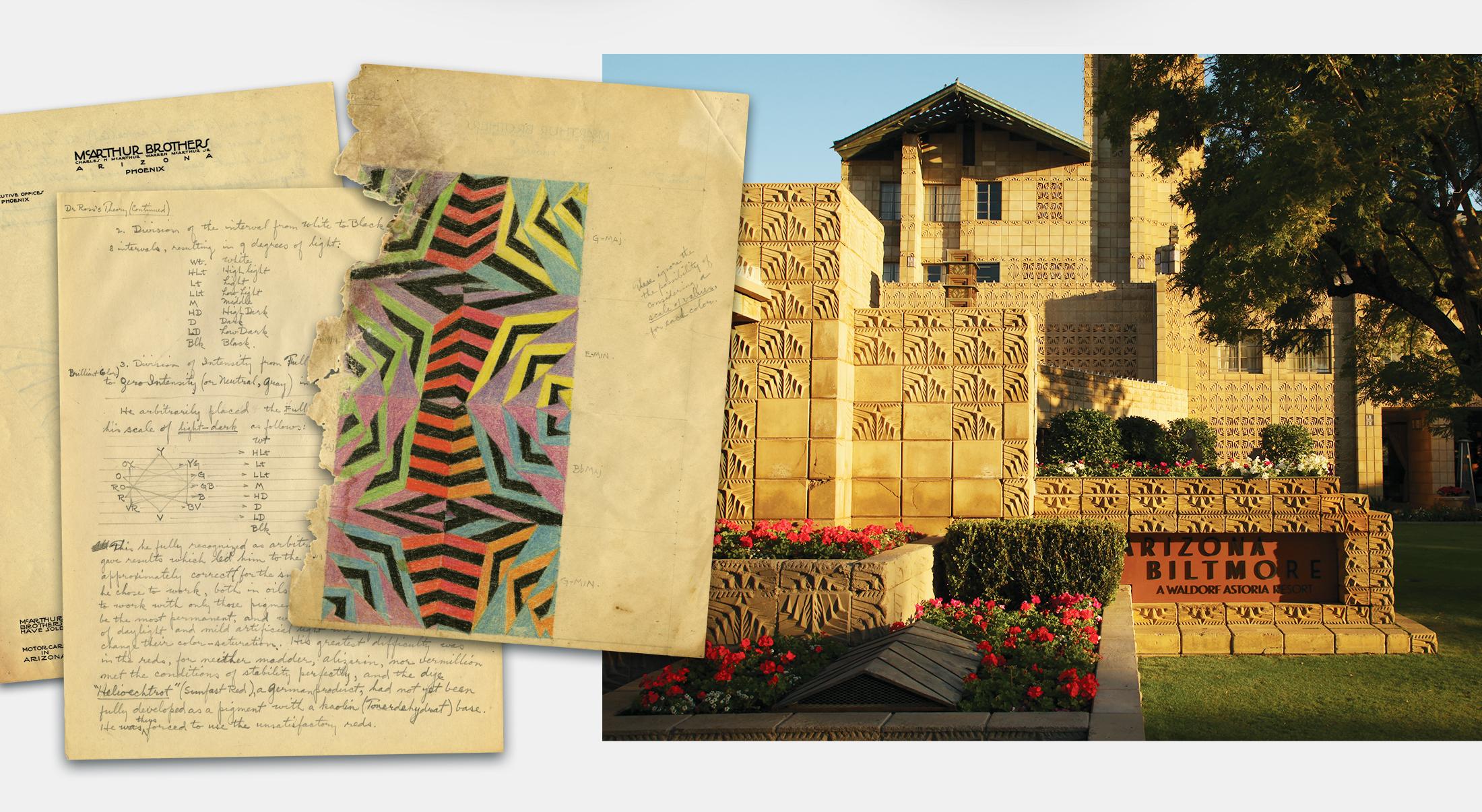 Albert Chase Mcarthur sketch of Biltmore Block | Robertson Design