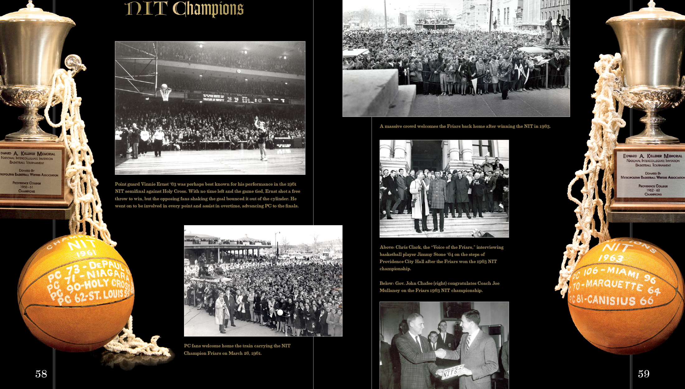 Interior spread: Highlights from Providence NIT Champions | Robertson Design
