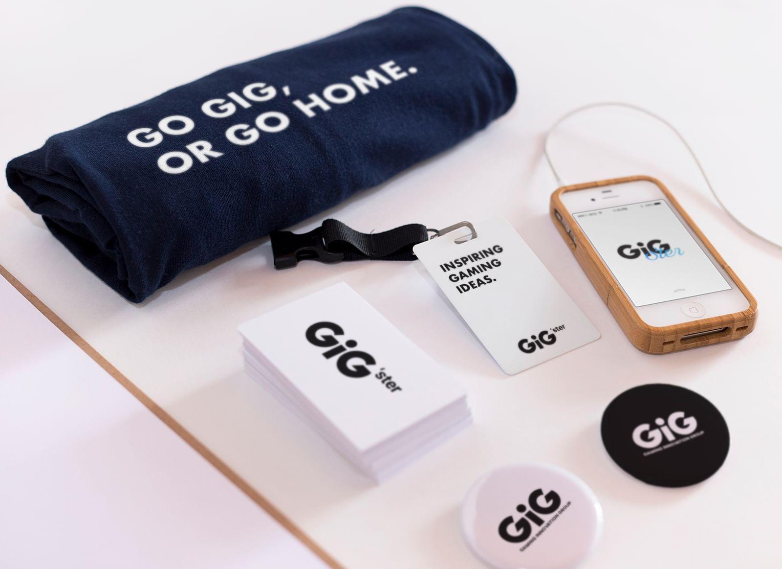 GiG branding peripherals