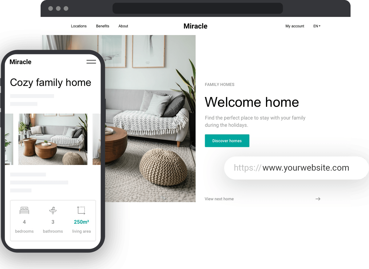 Desktop and mobile website design service
