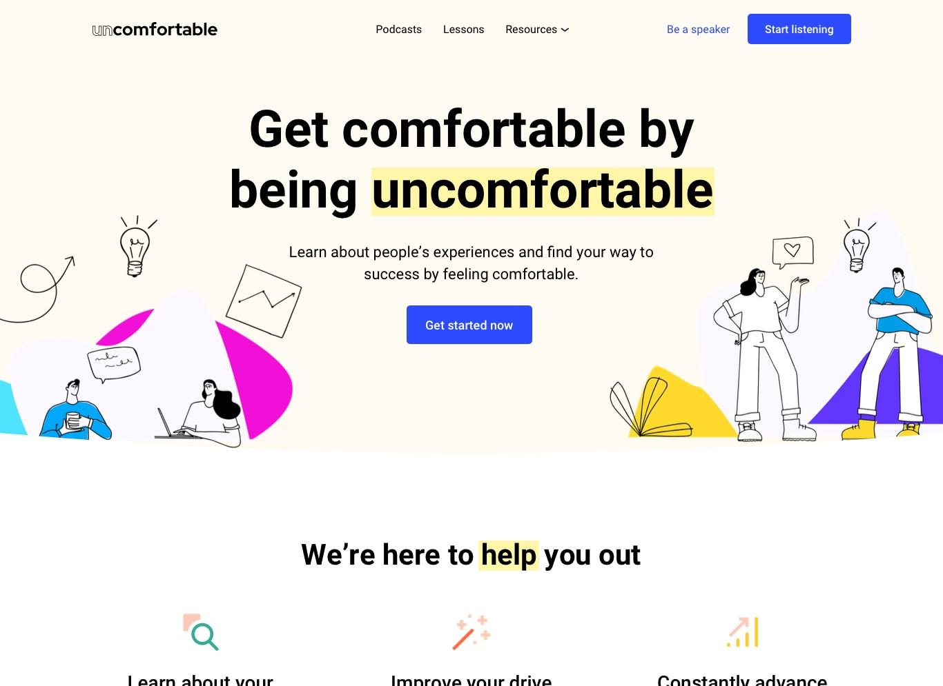 Uncomfortable website design