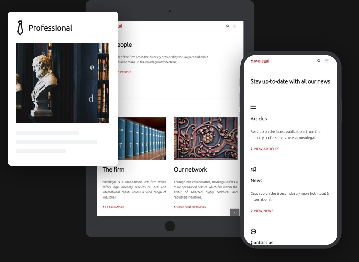 Novolegal responsiveness website design