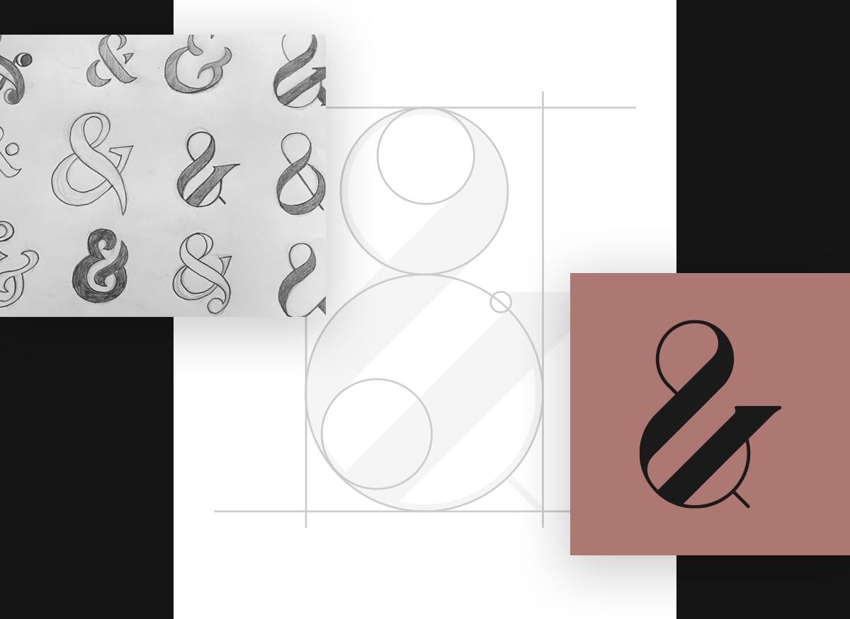 Sketch logo design process