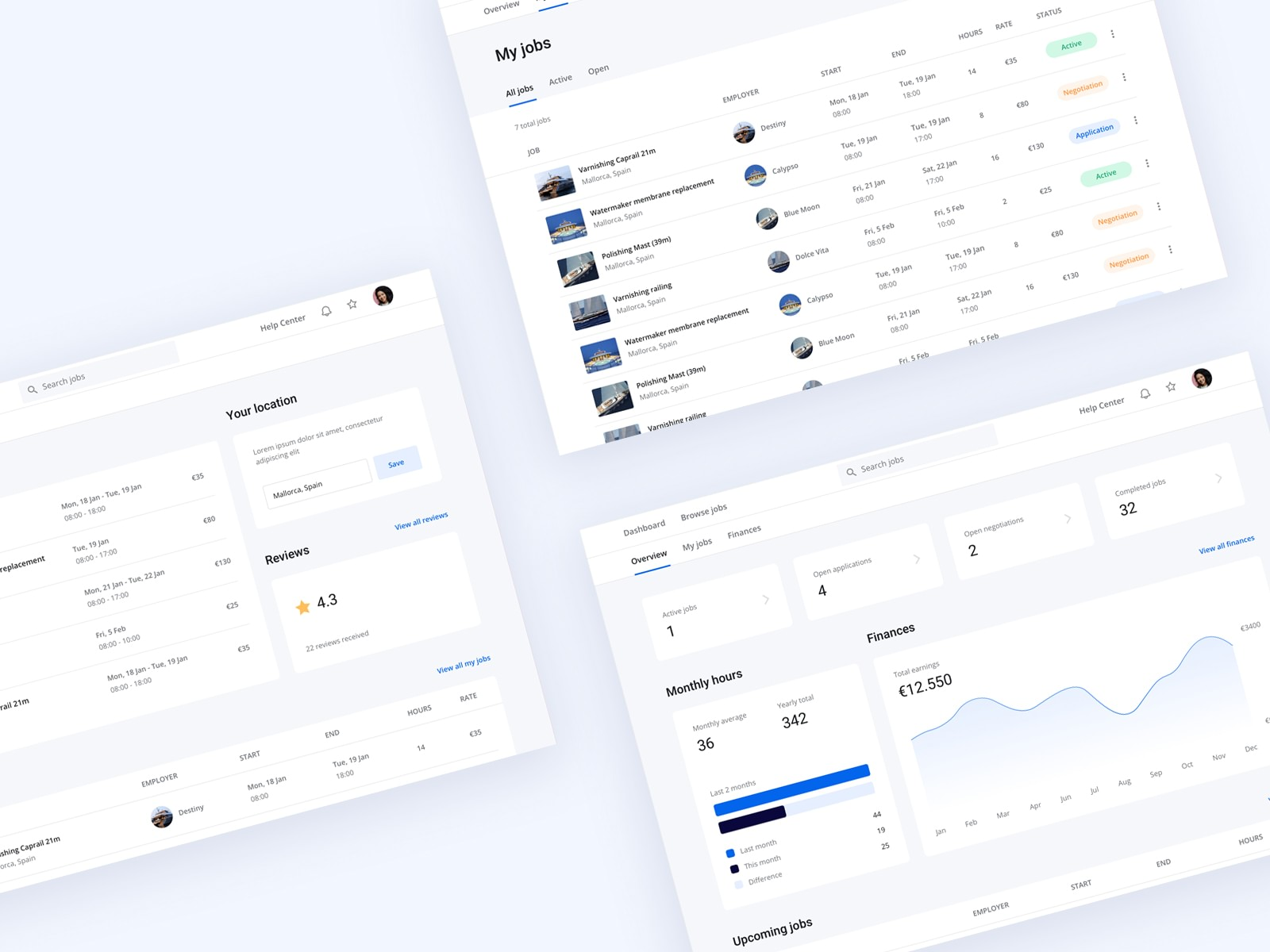 Recruiting dashboard designs