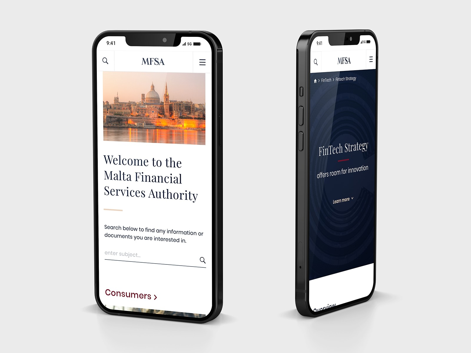 MFAS mobile mockup design