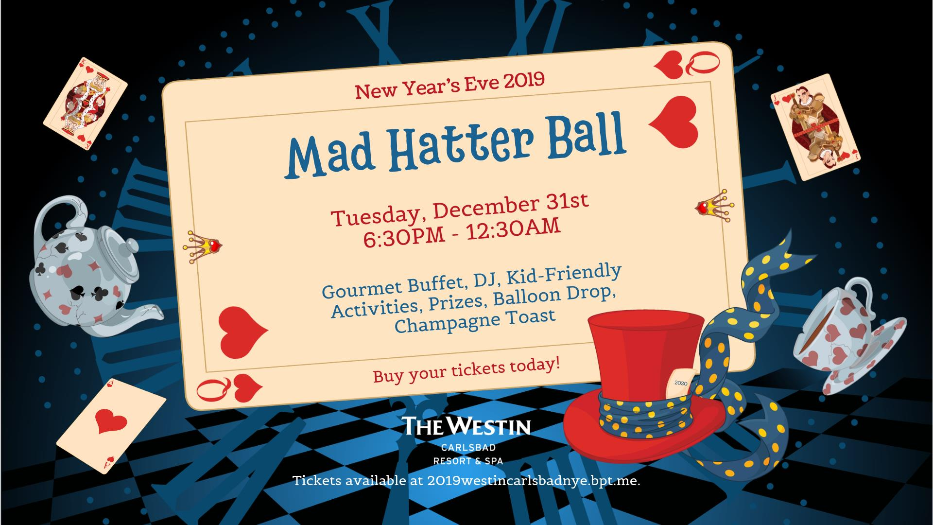 2019 New Year's Eve Mad Hatter Ball
