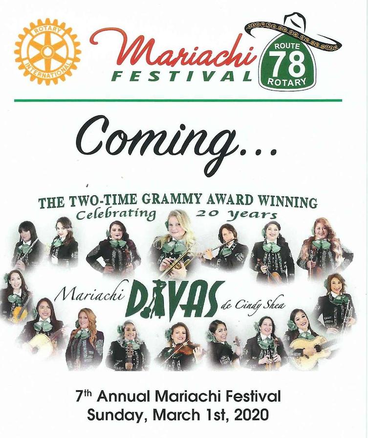7TH ANNUAL MARIACHI FESTIVAL ROUTE 78 ROTARY
