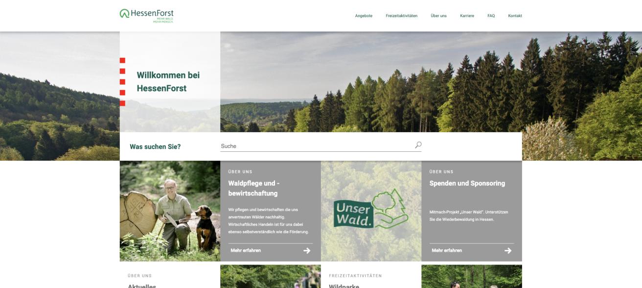 Hessen Forst Website Design