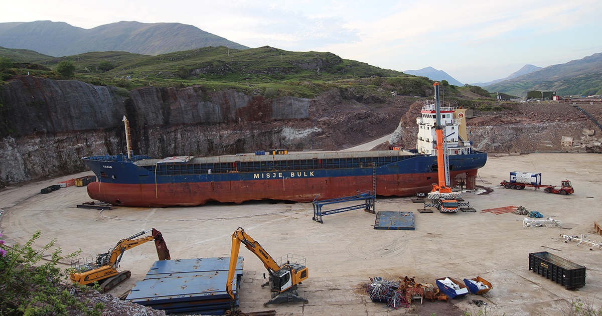 John Lawrie successfully completes decommissioning of MV Kaami at Kishorn Dry Dock
