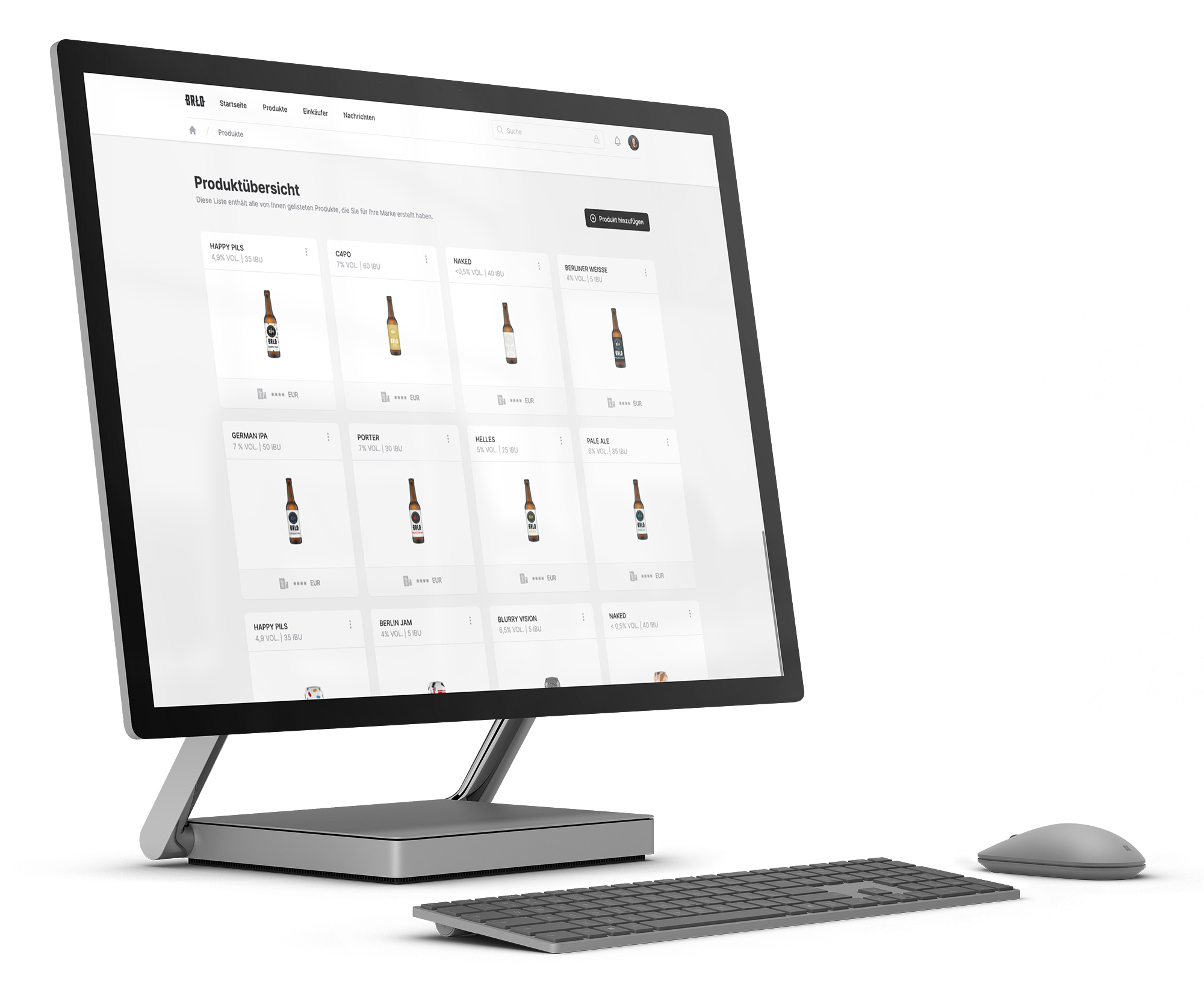 BRLO its personal product launches on FrontNow, displayed on a Microsoft Surface