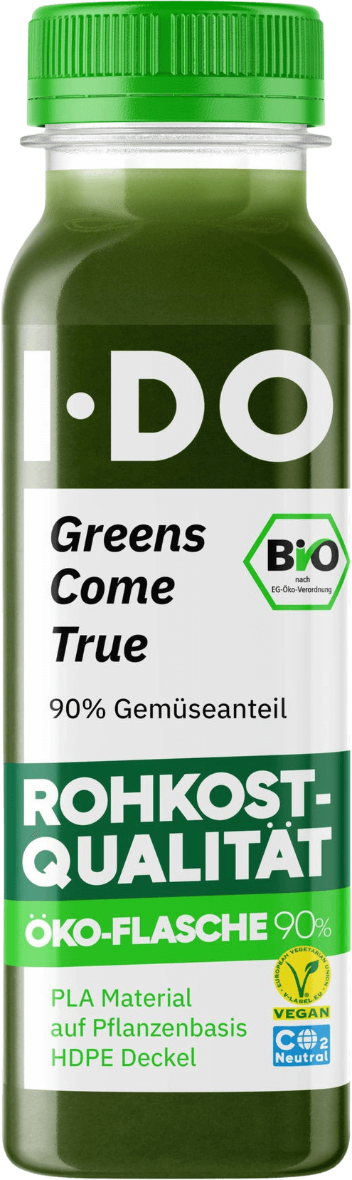IDO BIO, greens comes true, vegetable juice, product promotion