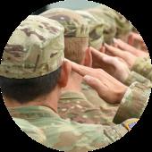 Military Man Saluting
