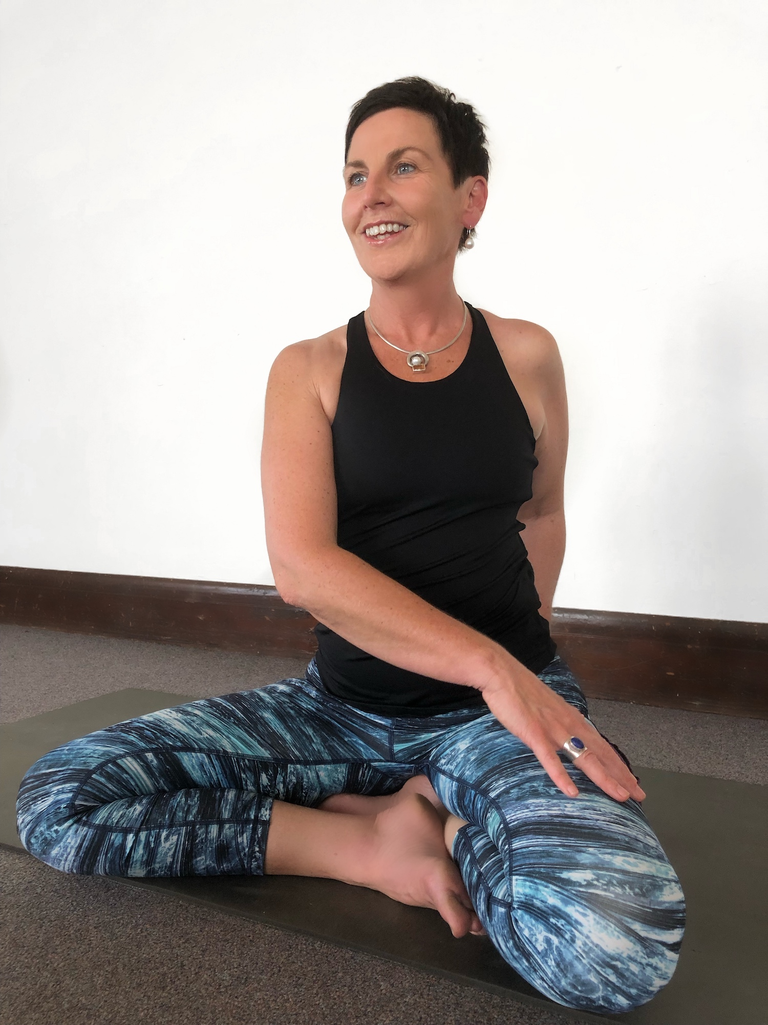 Robyn doing yoga pose