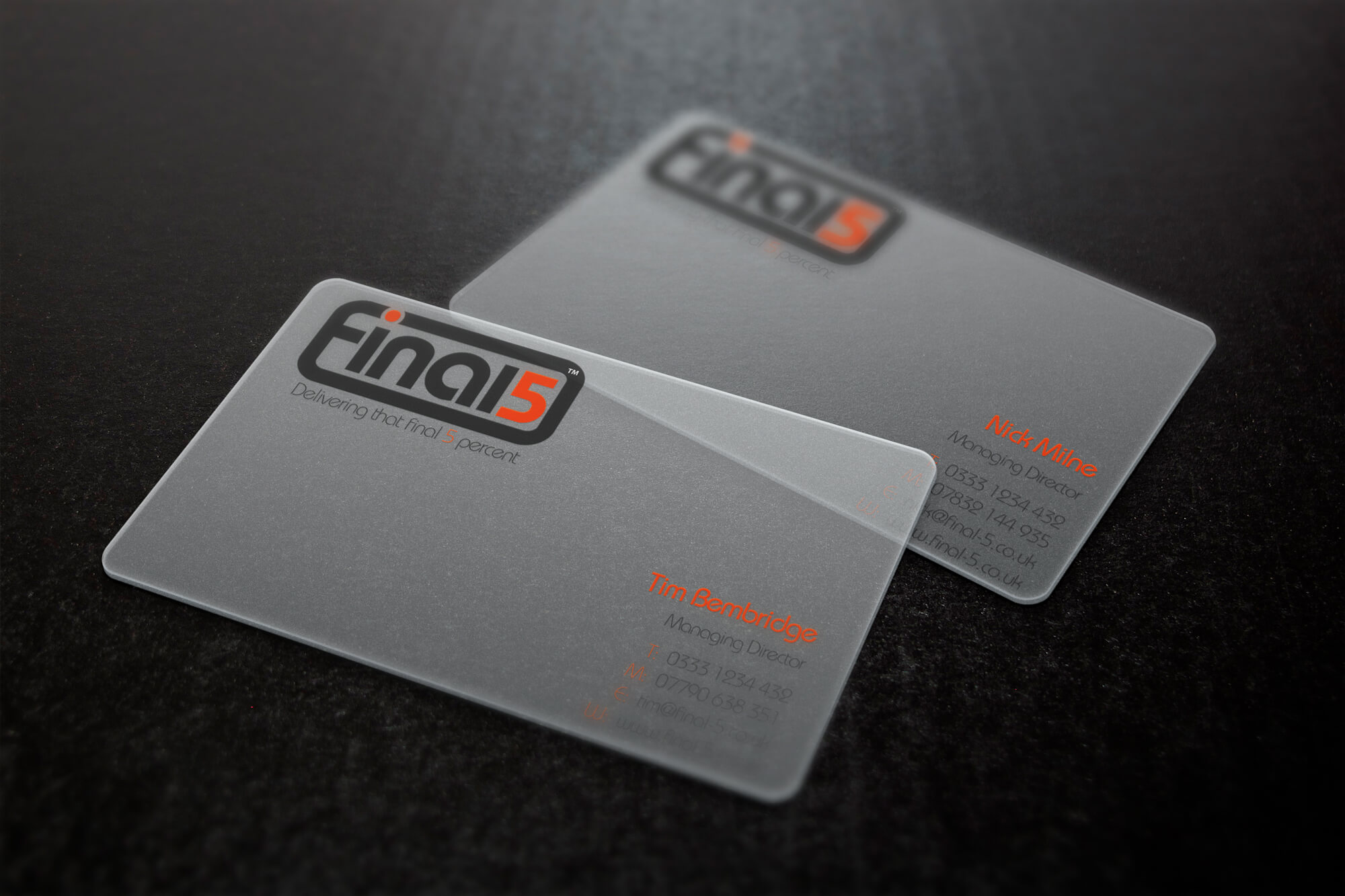 Final 5 Business card design