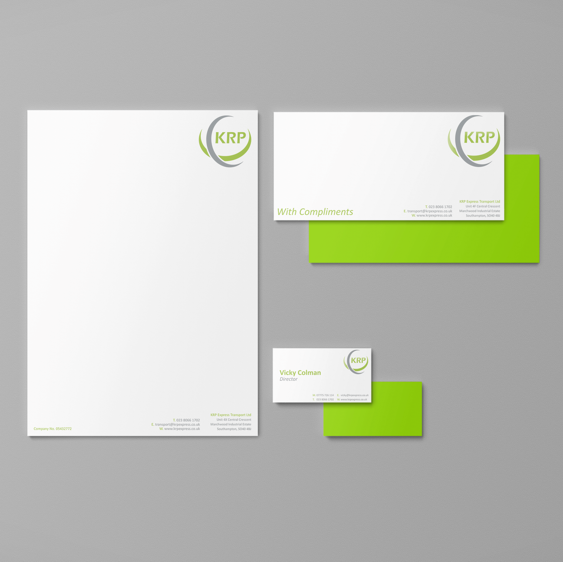 KRP corporate ID design