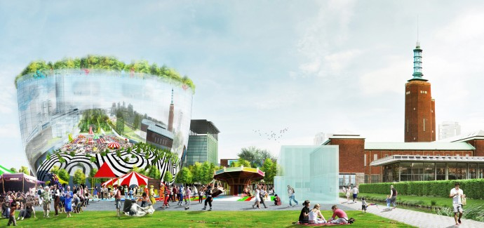 Zwycięski projekt przypomina bardziej instalację artystyczną niż budynek © MVRDV