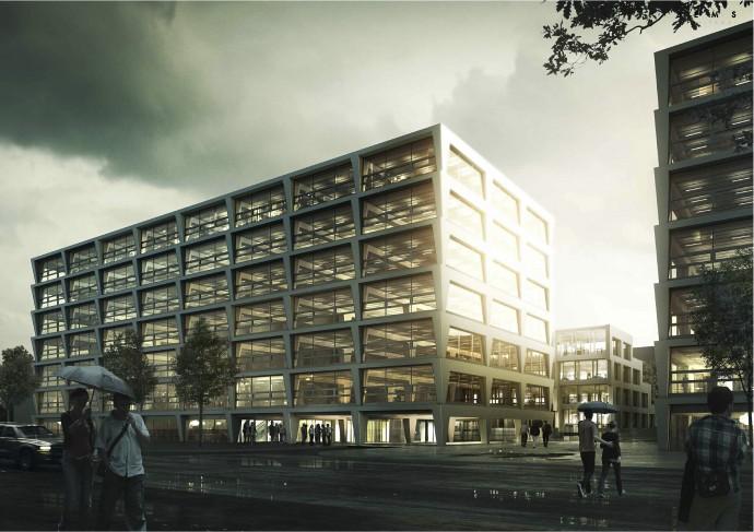 O P4 na warszawskim Służewcu architekci mówią, że dorówna klasą siedzibie Agory @ JEMS Architekci