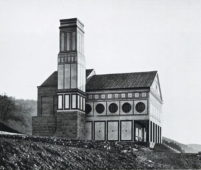 Zbudowane w 1907 roku krematorium w Hagen według projektu Behrensa