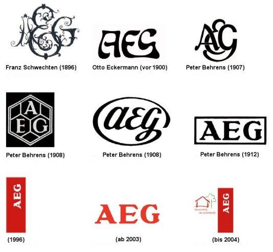 Zaprojektowane przez Behrensa logo służyło firmie niemal sto lat