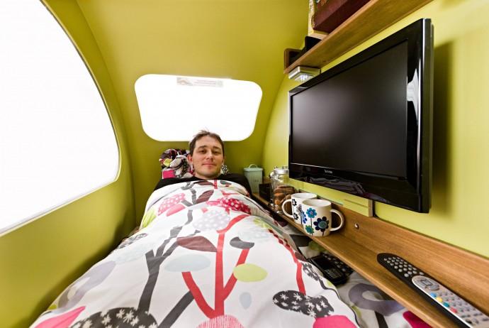 Przyczepa mieści pełnowymiarowe łóżko © ETA