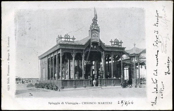 Sklep odzieżowy znanego kupca z Lukki zbudowany przez Modesto Orzali w 1899 roku © salutidaviareggio.blogspot.com
