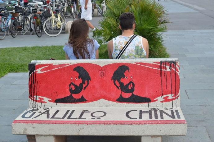Ławka przy Viale Margherita poświęcona Chiniemu © Garvest