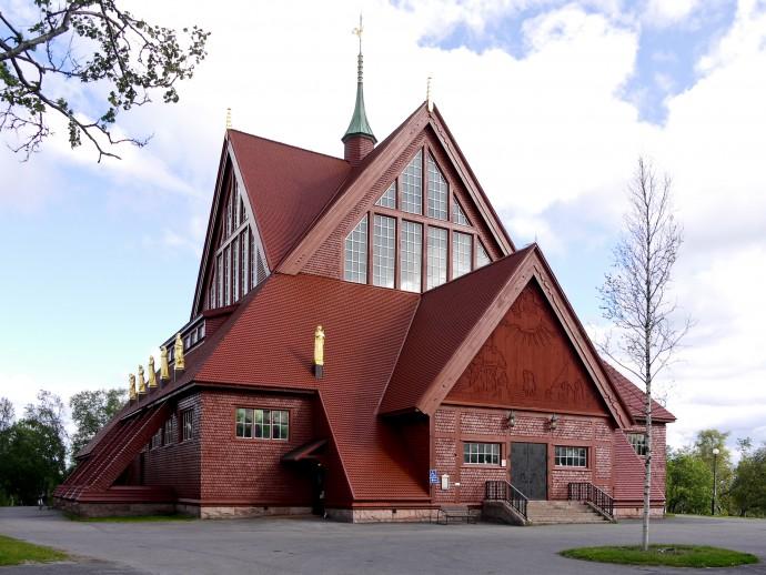 Ewangelicko-luterański kościół w kształcie lapońskiego namiotu uznany w narodowym plebiscycie za najpiękniejszy budynek Szwecji © Wikimedia Commons