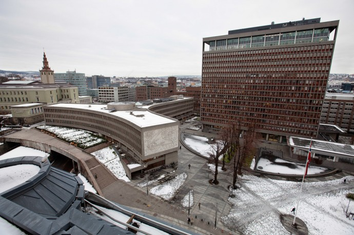 Rządowe budynki Y i H Erlinga Viksjø © Trond Isaksen/Statsbygg