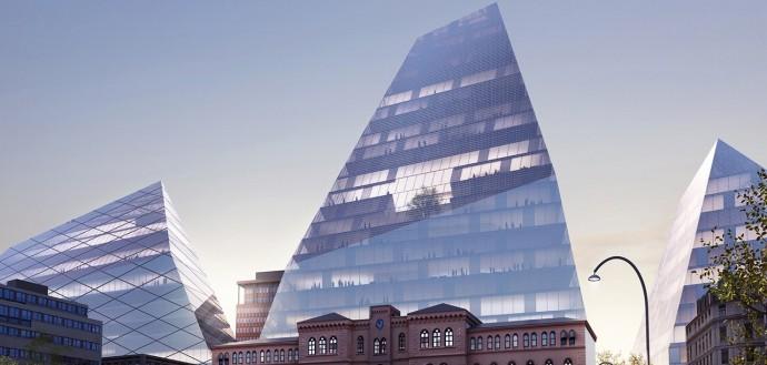 Duńczycy wymyślili piramidalną w kształcie architekturę © BIG