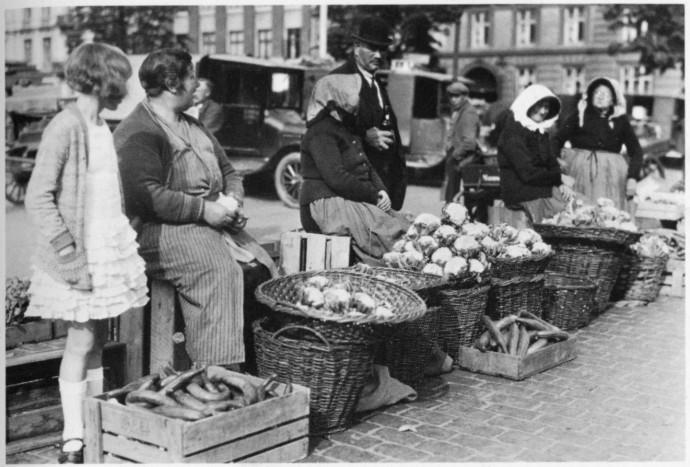 Tak wyglądał Groenttorvet w 1930 roku © Kopenhaskie Muzeum Miejskie