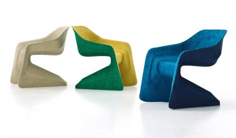 Krzesło z włókien konopnych zaprojektowane przez Wernera Aisslingera © Moroso