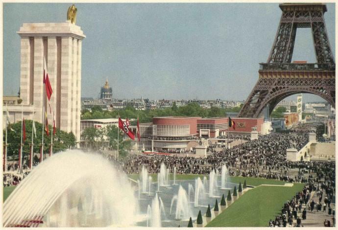 Pawilon niemiecki autorstwa Speera na Wystawie Światowej w Paryżu w 1937 roku © La Photolith