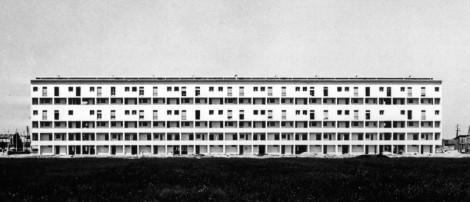 Galeriowiec projektu Piero Bottoni, Mario Morini, Carlo Villa, 1953 rok