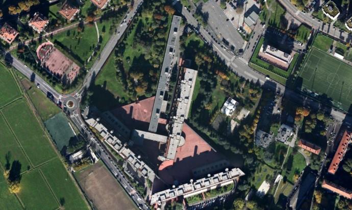 Budynki pomiędzy Via Francesco Cilea i Via Enrico Falck © Google Maps