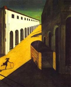 Tajemnica i melancholia ulicy, Giorgio de Chirico, olej na płótnie, 1914