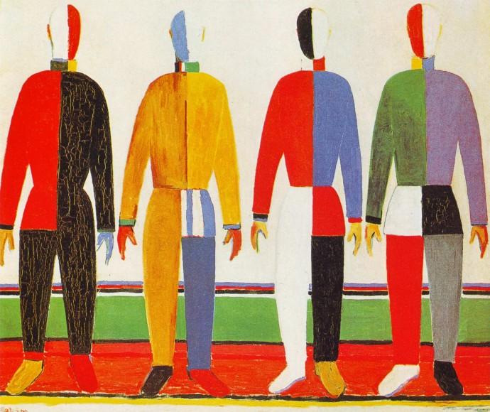 Sportowcy. Suprematystyczne sylwetki sportowców (1928–32), Państwowe Muzeum Rosyjskie, Petersburg