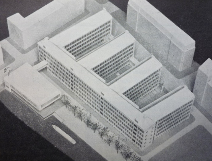 Projekt Stadstimmerhuis z 1947 roku © archiwum miejskie Rotterdamu