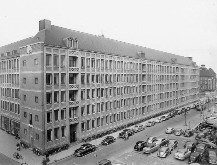 Narożnik budynku na skrzyżowaniu Haagseveer i Meent © archiwum miejskie Rotterdamu