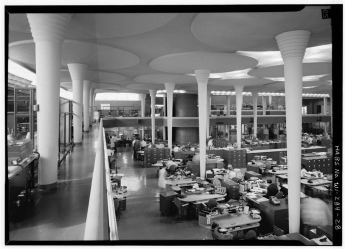 Widok z galerii na open space © Jack E. Boucher, Biblioteka Kongresu