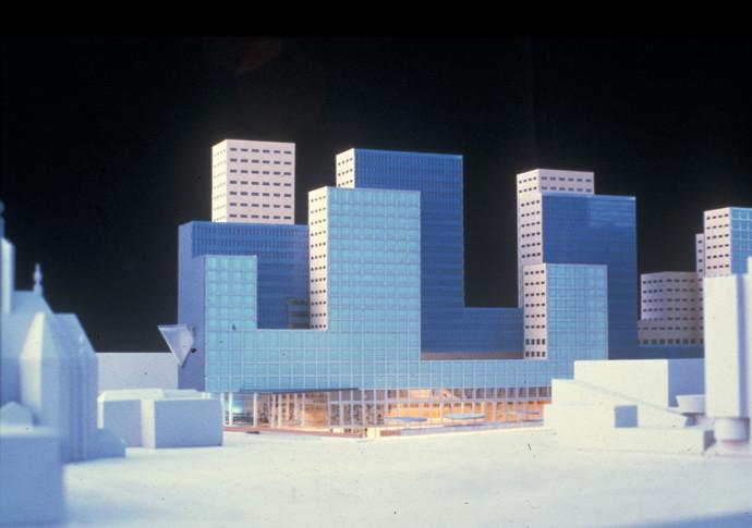 Makieta konkursowa Office for Metropolitan Architecture © OMA