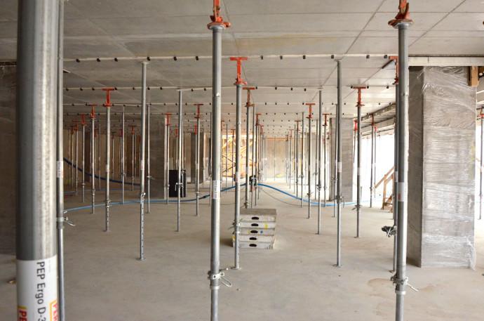Podstemplowany strop najniższej kondygnacji © Garvest