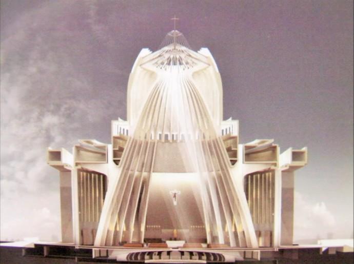 W przekroju świątyni wierni dopatrzyli się postaci anioła