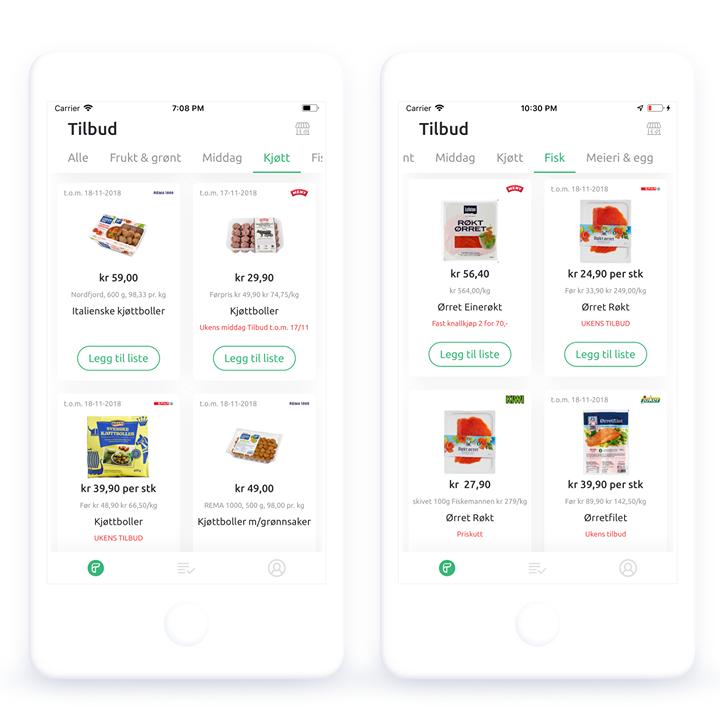 Kjøtt og Fisk produktkategorier i Rebatum