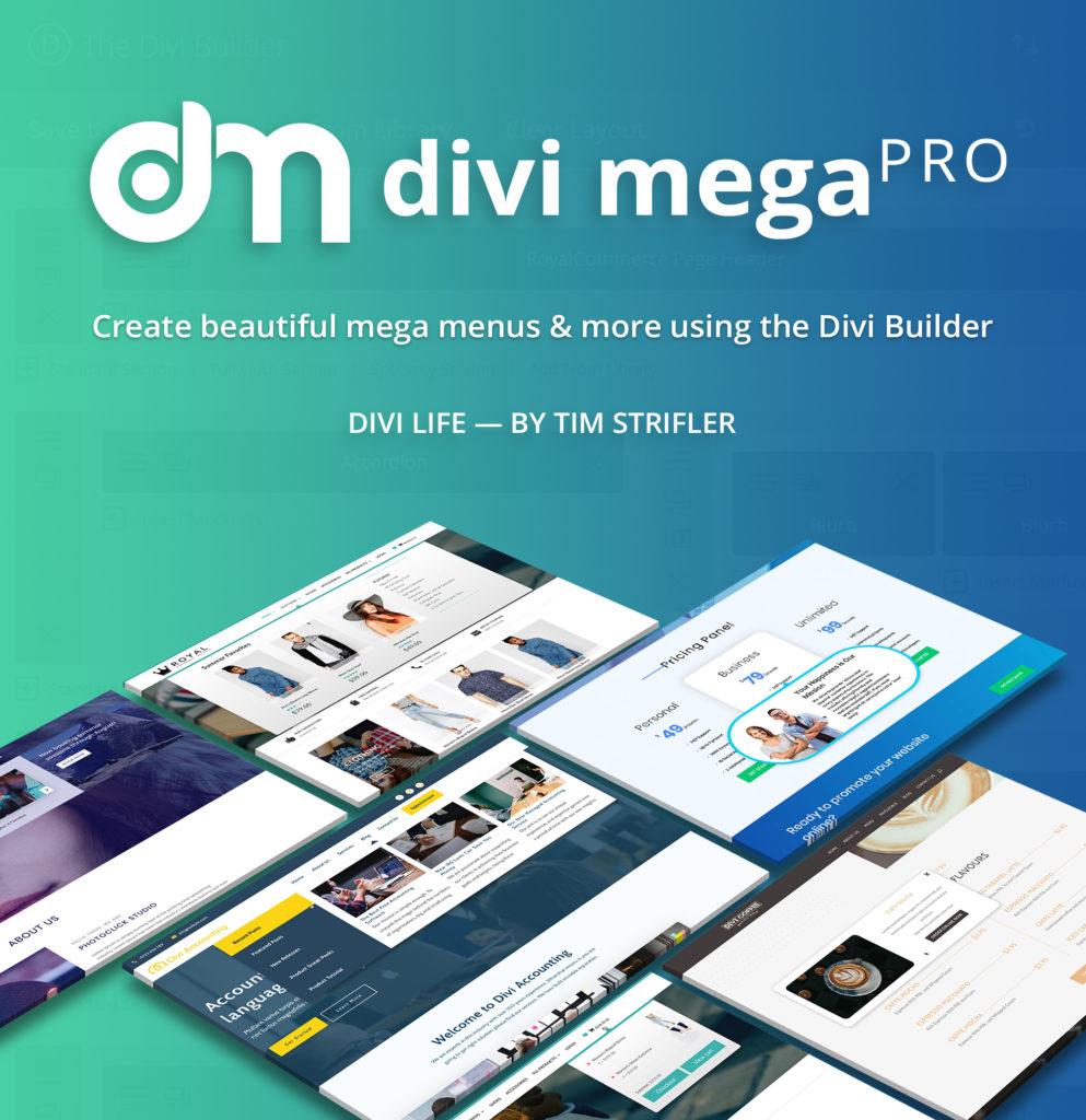 Download Divi Mega Pro WordPress Plugin for Divi