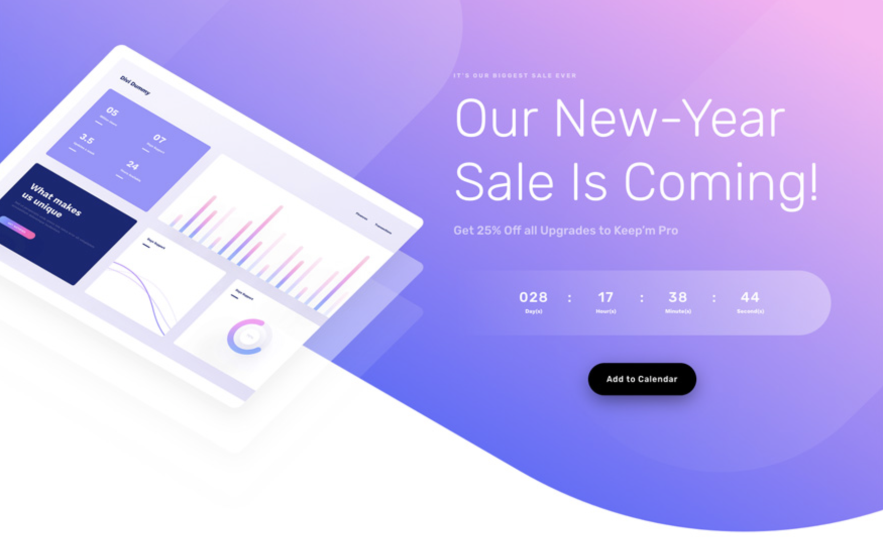 Download Divi Software Sale Landing Page