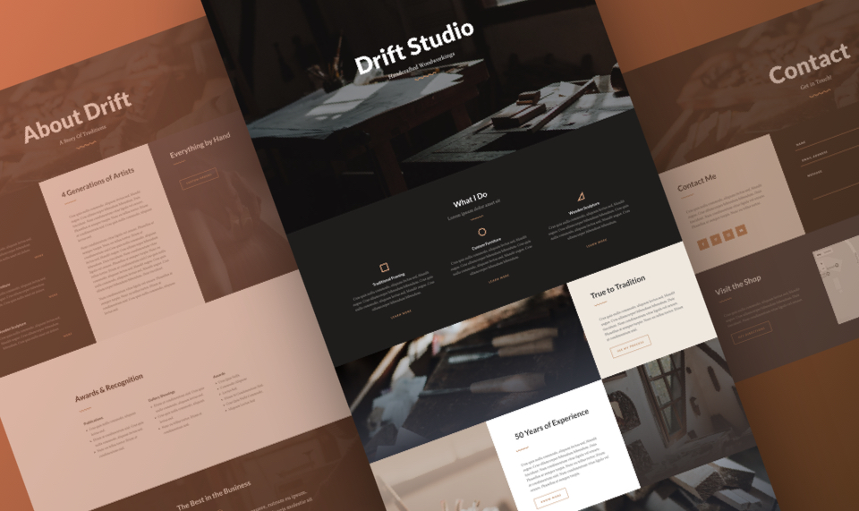 Divi Artist Layout Pack