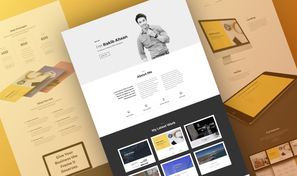 Download Divi Freelance Layout